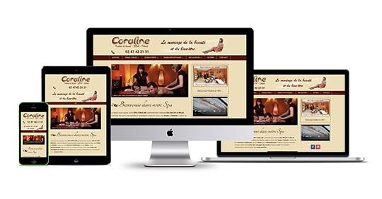 Site internet Spa Coraline